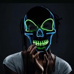 Masque a led tête de mort bi-couleurs