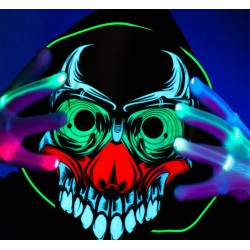 Masque de monstre qui réagit à la musique