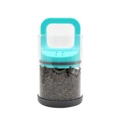 Pot en verre sous vide pour herbe