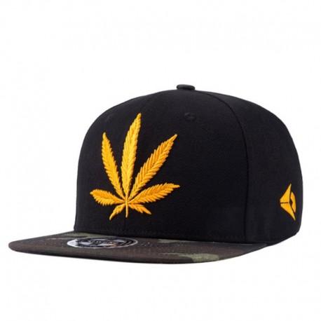 Casquette cannabis brodé