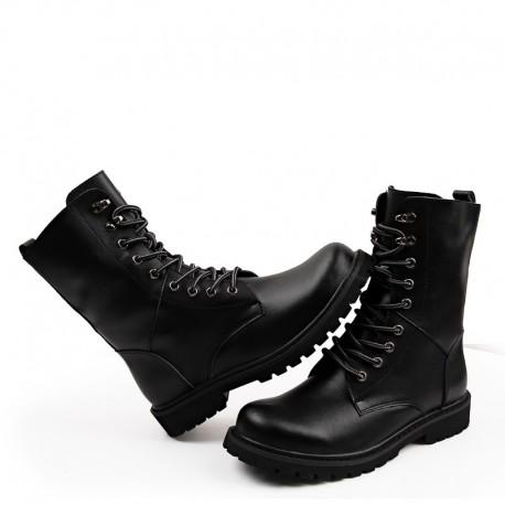 Chaussure cuir de vache Rangers millitaire