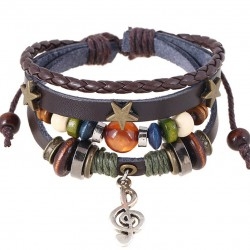 Bracelet en cuir Bohème